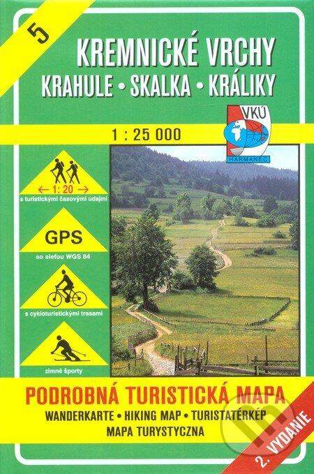 Kremnické vrchy - Skalka - turistická mapa č. 5 - Kolektív autorov