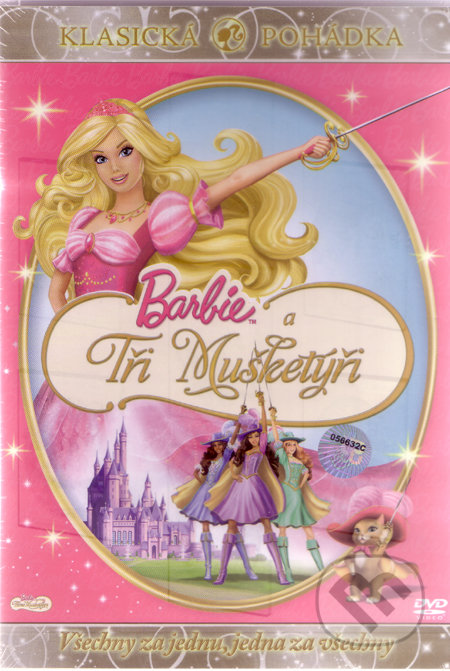 Barbie a Traja Mušketieri DVD