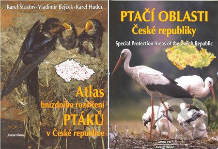 Atlas hnízdního rozšíření ptáků v České republice + Ptačí oblasti České republiky - Karel Šťastný, Vladimír Bejček, Karel Hudec