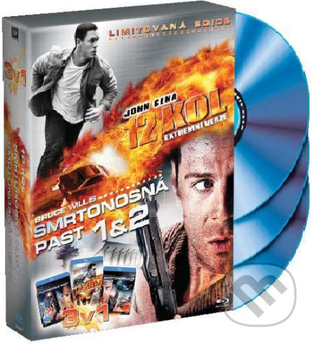 Kolekcia 3 Blu-ray: 12 kôl, Smrtonosná pasca 1+2 BLU-RAY