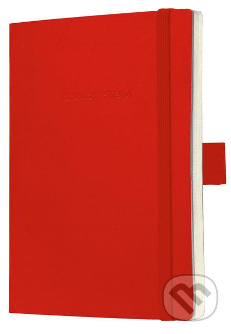Notebook CONCEPTUM softcover červený 13,5 x 21 cm štvorček -