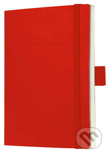 Notebook CONCEPTUM softcover červený 13,5 x 21 cm linka -